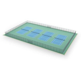 Set Of Tennis Courts 3D
