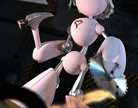 3D model Pink Cartoon Robot