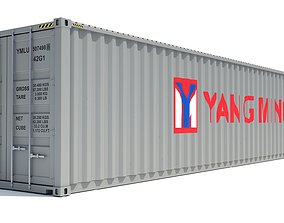 Shipping Container Yang Ming 3D model