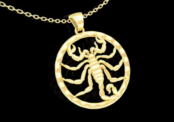 Scorpion Pendant jewelry Gold 3D print model