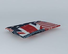 3D model Cushion Britain Houses of the world