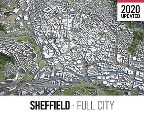 3D model Sheffield - city and surroundings
