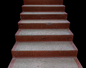 3D asset Stairs red