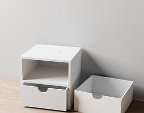 002M LA Unit Medium 2 Drawer Horizontal 3D print model 1