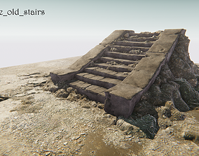 3D model Concrete old stairs