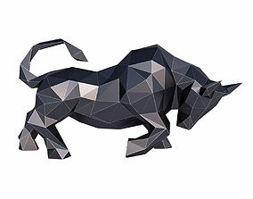 Bull Low Poly 3D asset