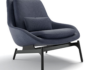 bludot Blu Dot Field Lounge Chair 3D