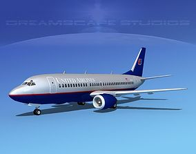 3D model Boeing 737-300 United Airlines