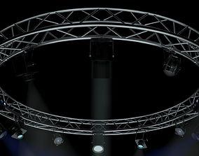 3D CircleSquareTruss400cm-StageLights