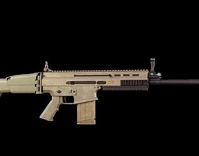 Realistic SCAR - H Fully Detailed 3d model PBR