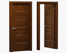 3D model Modern brown wood door