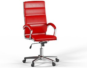 3D model High Back Red Leather Executive Office Chair