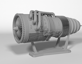 jet engine civilian 3D print model