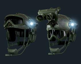 Military Helmet Game Ready 3D asset