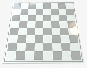 3D Glass Chess Board