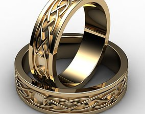 gem 3D printable model wedding rings