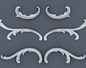 Baroque volutes pack 3D print model