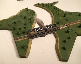 Hex railway bridge 3D printable model