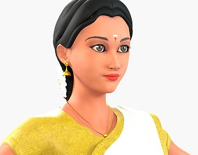 3D model Indian Lady in Saree Manisha