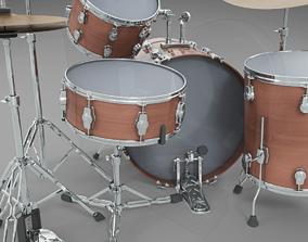 3D model Basic drum set
