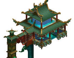 brick 3D Temple - Theme Building