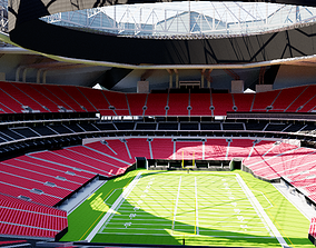 Mercedes-Benz Stadium Atlanta baseball 3D