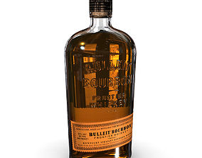 Bulleit Bourbon 75cl Bottle 3D model