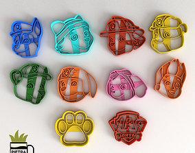 3D print model PAW PATROL MOLDE CORTANTE PARA GALLETAS 2