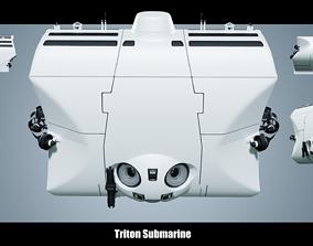 pressure 3D model Triton 36000 Submarine