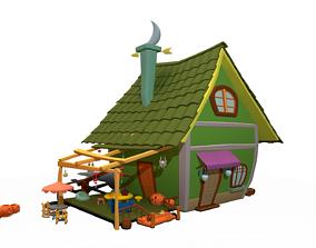 Asset - Cartoons - Background - House 3D model