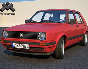 3D 1990 Volkswagen Golf II