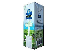 3D asset Netto Milk Carton