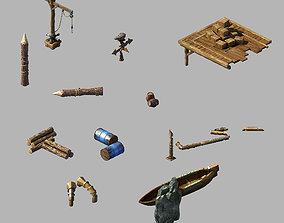 3D Dynasty Steam Harbour - Port - Small Objects