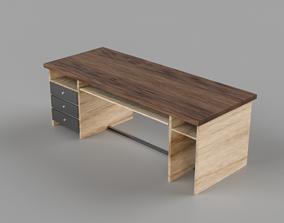 3D model low-poly Wooden Table desk dresser