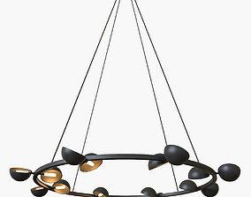 Avion round 16 lights chandelier 3D