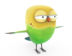 Cartoon Parrot 3D asset low-poly cute