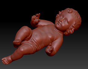 3D print model Baby Jesus Christ in a Crib Figurine