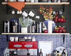 Kitchen decor set plate 3D model