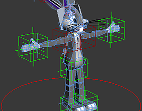 Bugs Bunny Rigged 3D asset