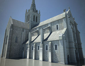 Cathedral - Basilica with LOD 3D model
