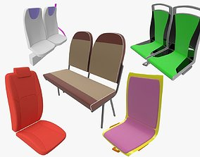 interior 3D model Passenger seats
