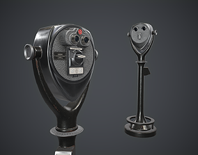 Coin-operated Telescope Binoculars PBR Game Ready 3D model