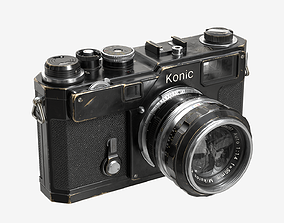 3D asset Low-poly Camera Black
