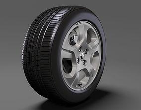 3D model Renault Logan wheel 2017