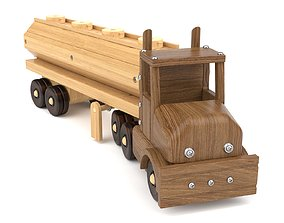 3D Wooden toy truck 28