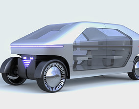 3D model Electric bus autopilot