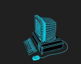 Vaporwave PC in 7 colours 3D model