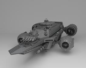 Sci Fi Flying Ship vtol 3D