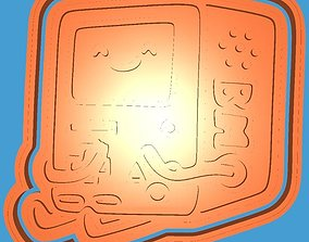 3D model MakeIT Adventure Times Cookie Cutter Bibo With