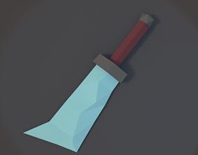 Low Poly Sword 02 3D asset